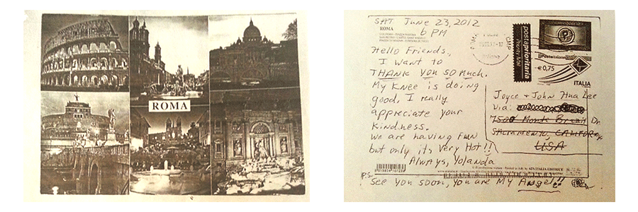 Chinese Acupuncturist Testimonial: Knee Pain Gone - Postcard